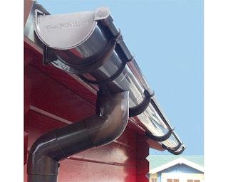 Kunststoff Dachrinnenset für Karibu 40 mm Einzelgarage mit Satteldach
