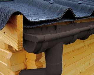 Kunststoff Dachrinnenset 405B für Pultdach/Flachdach Gartenhäuser