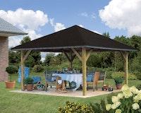 Karibu 4-Eck Pavillon Holm 1/2 kesseldruckimprägniert