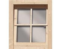 Karibu Dreh-/ Kippfenster für 28 mm Häuser und Carports