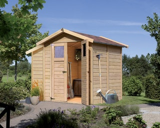 Karibu Eco Gartenhaus Gerätehaus Dahme 1/2/3 - 14 mm