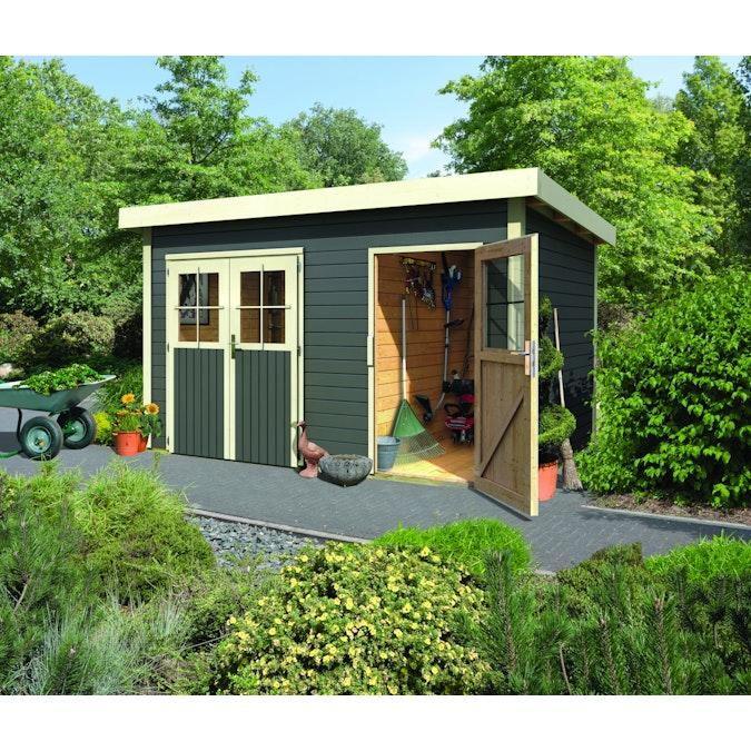 Gartenhaus mit Flachdach jetzt günstig bestellen | Mein-Gartenshop24.de
