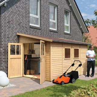 Karibu Classic Gartenhaus Bomlitz 2/3/4 naturbelassen - 19 mm