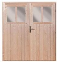 Karibu Doppelflügeltür für Wandlitz/Bomlitz 19 mm inkl. Türschloss und Rahmen