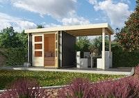 Karibu Woodfeeling Gartenhaus Askola 2/3/3,5/4/5/6 mit 240 cm Schleppdach