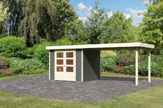 Karibu Woodfeeling Gartenhaus Askola 2/3/3,5/4/5/6 mit 280 cm Schleppdach