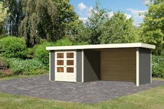 Karibu Woodfeeling Gartenhaus Askola 2/3/3,5/4/5 m. 275 cm Schleppdach/Seiten- und Rückwand