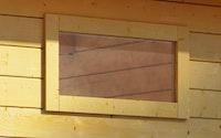 Karibu Fenster feststehend für 38 mm Häuser und Carports