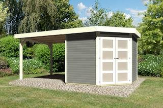 Karibu Gartenhaus Gerätehaus Goldendorf 3/5 mit 280 cm Schleppdach - 19 mm