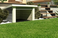 Karibu Woodfeeling Rasenmähroboterhaus 1 Pultdach - B 73 x T 77 cm - 19 mm