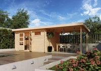 Karibu Woodfeeling Gartenhaus Bastrup 10 inkl. Fußboden - 28 mm