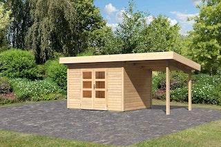 Karibu Woodfeeling Gartenhaus Northeim 2 mit 200 cm Schleppdach - 38 mm