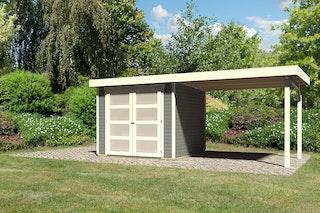 Karibu Gartenhaus Gerätehaus Mühlendorf 2/3/4 mit 280 cm Schleppdach - 19 mm