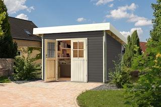 Karibu Premium Gartenhaus Moosburg 2/3 - Türversion Classic - 40 mm