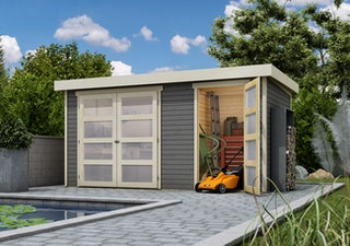 Karibu Woodfeeling Gartenhaus Mühlentrup 1 Zweiraumhaus - 19 mm