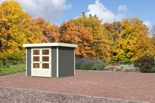 Karibu Gartenhaus Jever 3 mit Fußboden terragrau - Moin Aktion