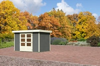 Karibu Gartenhaus Jever 4 mit Fußboden terragrau - Moin Aktion