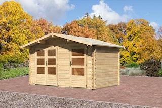 Karibu Gartenhaus Cuxhaven 0 mit Fußboden naturbelassen - Moin Aktion