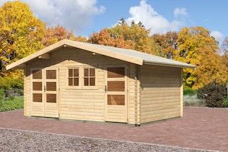 Karibu Gartenhaus Sahlenburg 2 mit Fußboden naturbelassen - Moin Aktion