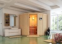 Karibu Sauna Simara 1 mit Eckeinstieg 68 mm