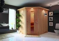 Karibu Sauna Siirin mit Eckeinstieg 68 mm