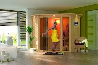 Karibu Sauna Flora 1 mit Fronteinstieg 68 mm
