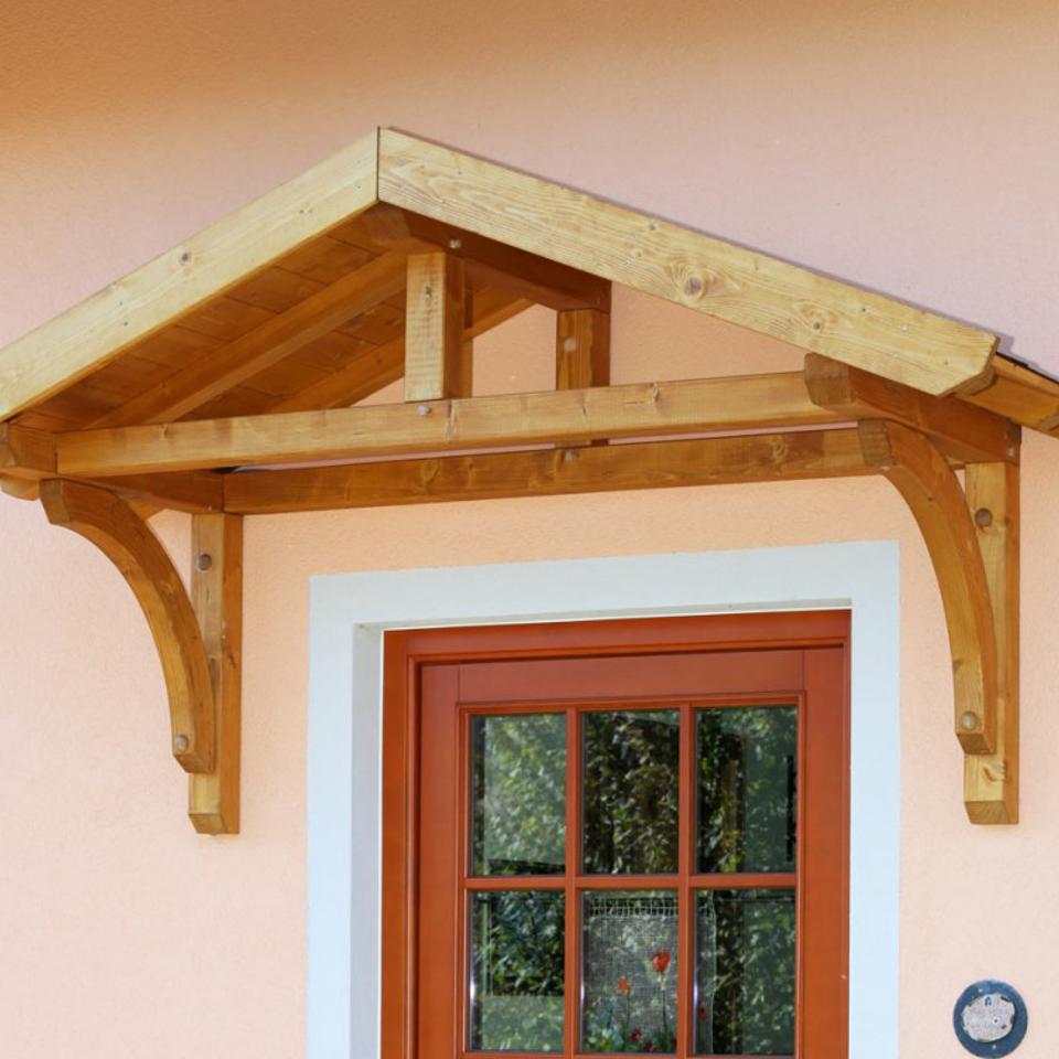 Vordächer Heimwerker Holz-vordach «paderborn» Für Haustüren Pultdach Typ 1