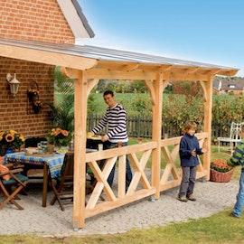 Terrassenuberdachung Holz Gunstig Gartenshop24