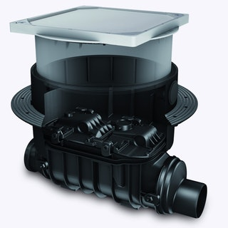 KESSEL 80200X - Grundkörper / Reinigungsrohr Controlfix DN 200 für Bodenplatte - befliesbare Abdeckung