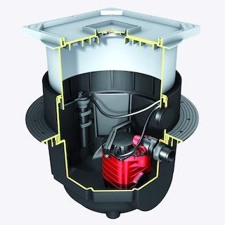 KESSEL 28550-C - Schmutzwasserhebeanlage Aqualift S Tronic - Unterflurinstallation