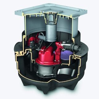 KESSEL 28701-C - Abwasserstation Aqualift F Compact Mono - Unterflurinstallation