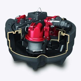 KESSEL 28743-C - Hebeanlage Aqualift F Compact Duo für freiliegenden Einbau - Comfort-Schaltgeräte