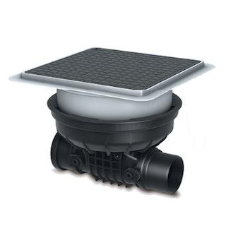 KESSEL 700090.10S - Grundkörper Staufix für Bodenplatte - schwarze Abdeckung