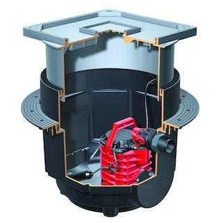 KESSEL 28500 - Schmutzwasserhebeanlage Aqualift S für Einbau in Bodenplatte