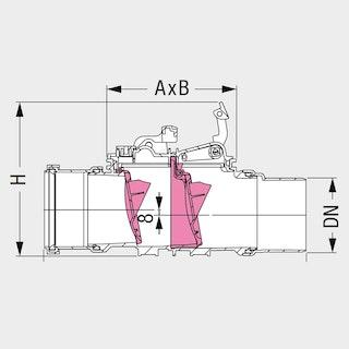 KESSEL - Rückstaudoppelverschluss für freiliegenden Einbau