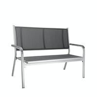 Kettler 2-Sitzer Bank BASIC PLUS Aluminium silber / Kunststoffgewebe anthrazit