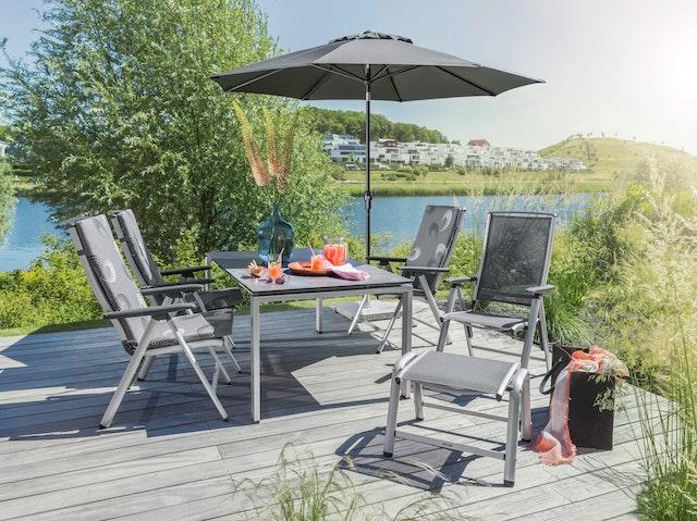 Kettler Vista Dining Gartenmöbel Set Inkl 4 Stühle 2 Hocker 1