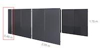 KGT Seitenelement klein für Aluminium Carport Elbe (1 Stück)