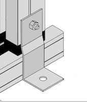 KGT Befestigungswinkelset - gekröpft (V15) zur Befestigung auf bauseitigem Fundament (10 Winkel)