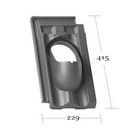 Klöber Venduct Grundplatte DN 100 Falzziegel