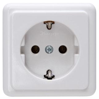 Kopp Schutzkontakt-Steckdose arktis-weiß