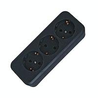 Kopp Schutzkontakt-Steckdosenleiste 3-fach schwarz