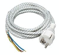 Kopp Bügeleisen - Leitung 2m weiß/schwarz
