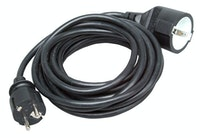 Kopp Schutzkontaktverlängerung 5m, schwarz