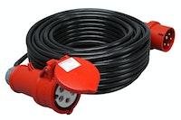 Kopp CEE Verlängerung 25m, schwarz, H05-VV-F 5G1,5mm²