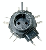 Kopp Reise-Stecker-Adapter TRAVELSTAR schwarz