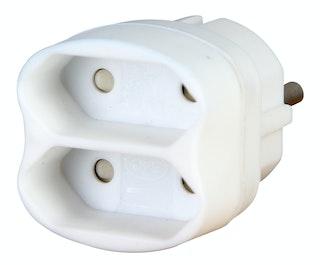 Kopp 2-fach Adapter, arktis-weiß