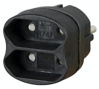 Kopp 2-fach Adapter, schwarz