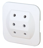 Kopp Steckdosen-Adapter 3-fach arktis-weiß