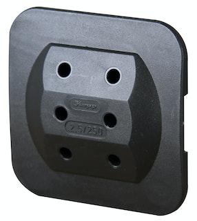 Kopp Steckdosen-Adapter 3-fach schwarz